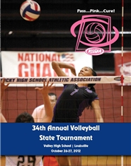 2012 KHSAA Volleyball Championship Program cover image