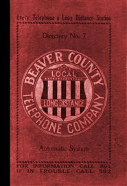 1911 Telephone Directory - Beaver County, Pennsylvania cover image