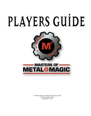 Masters of Metal & Magic - Players Guide cover image