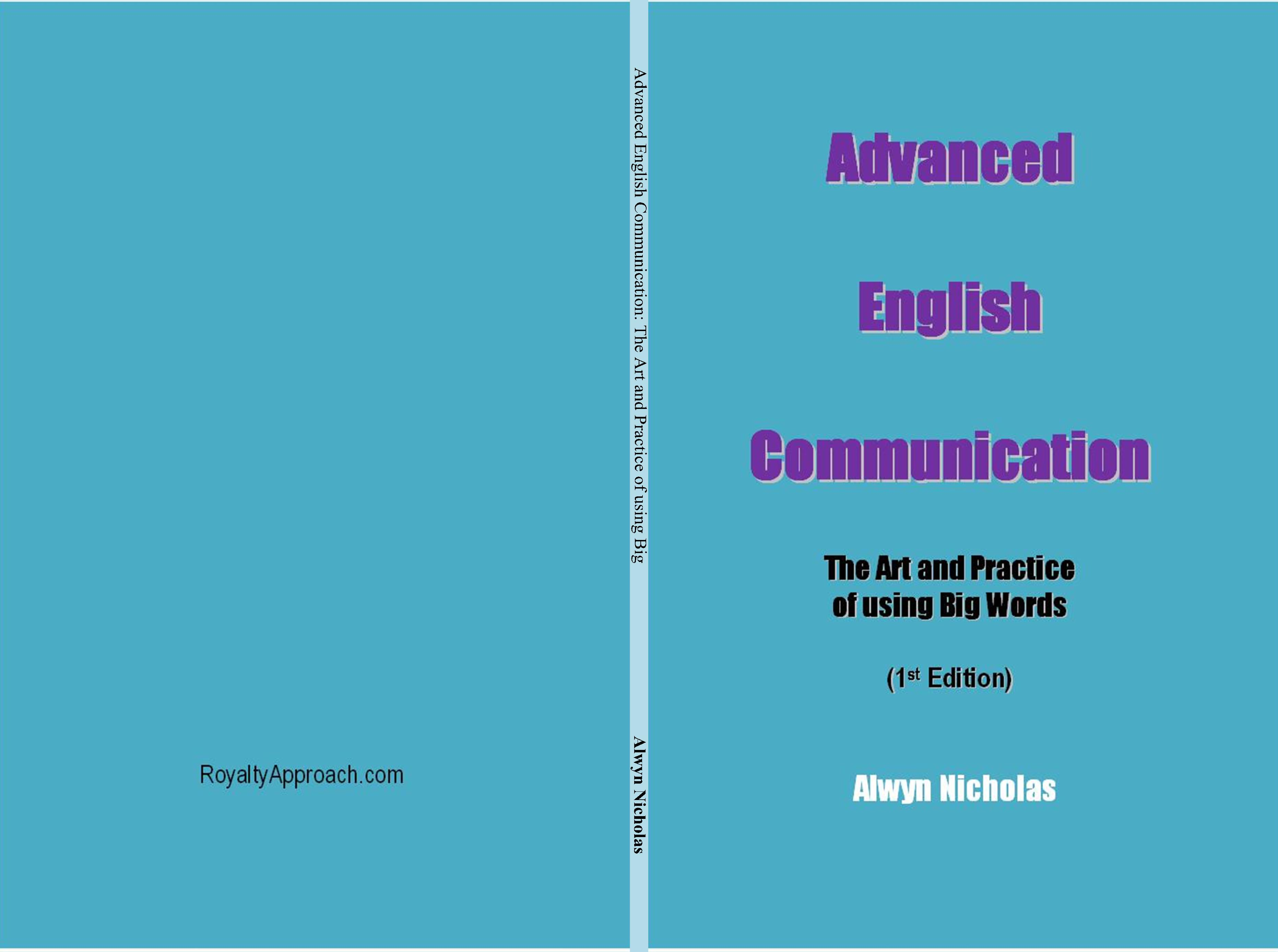 Advanced English Communication: The Art and Practice of using Big Words cover image