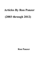 Articles By Ron Panzer (2003 through 2012) cover image