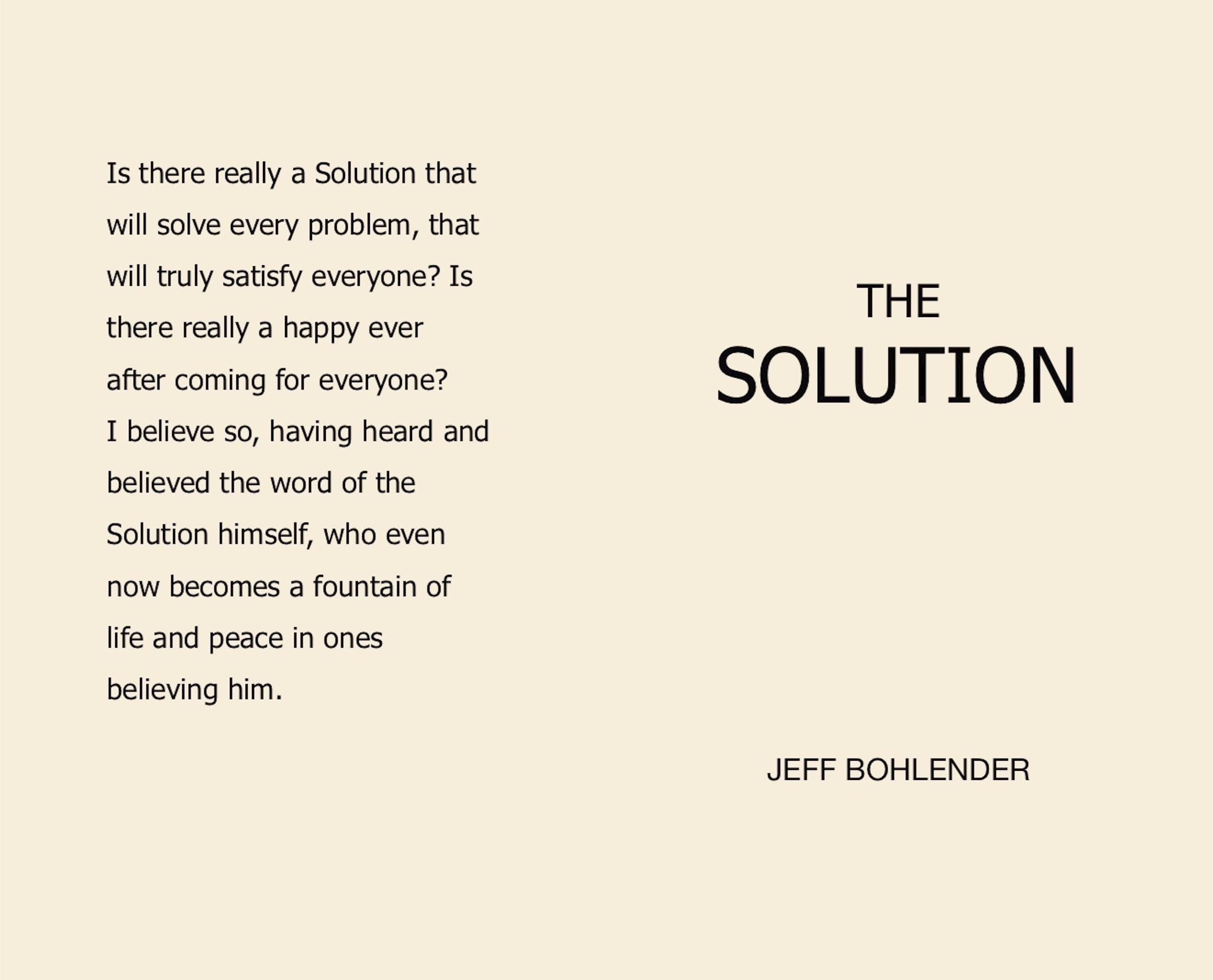 The Solution cover image