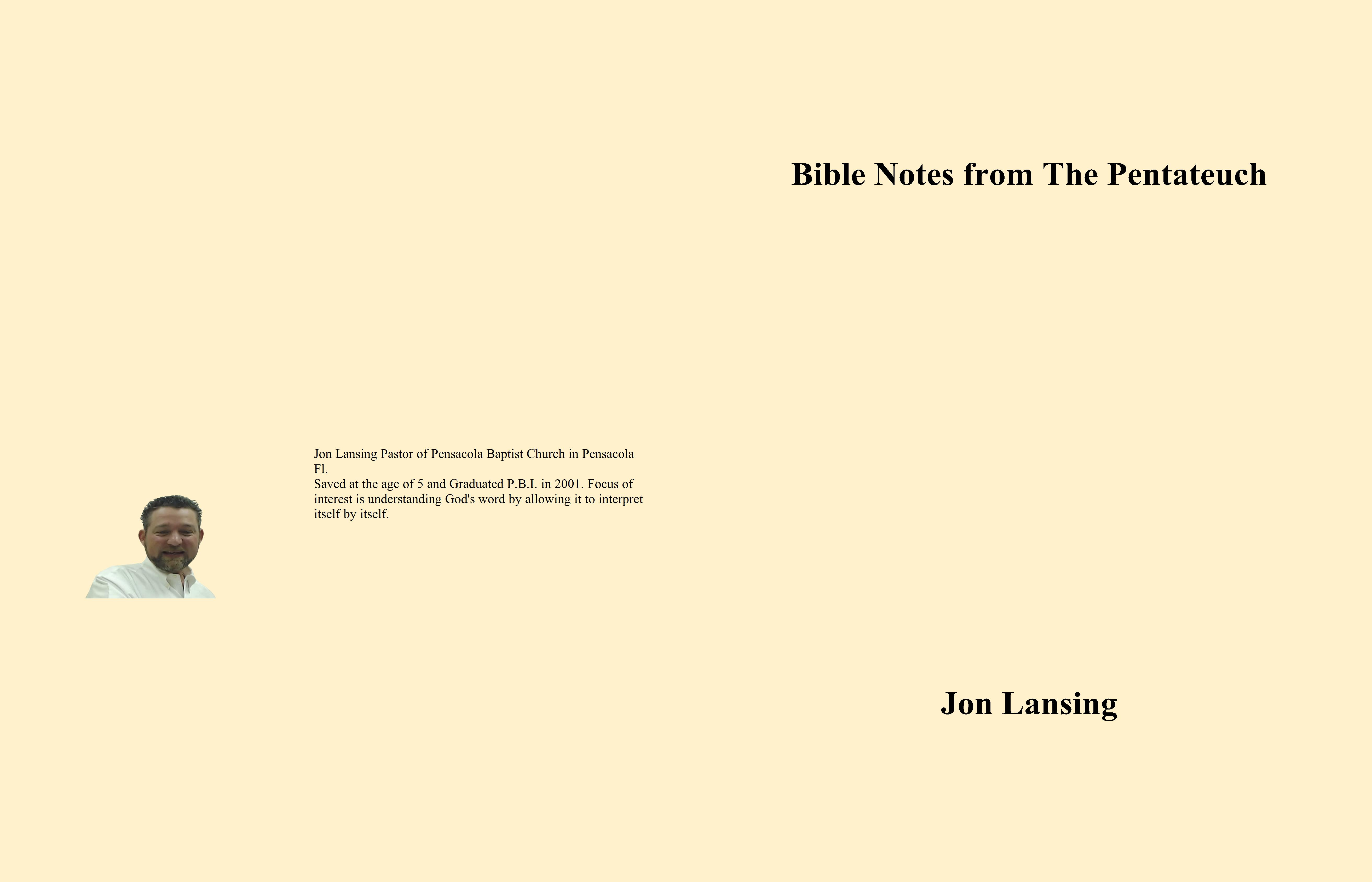 Bible Notes from The Pentateuch cover image