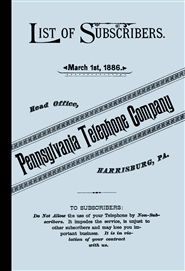 1886 List of Subscribers - Pennsylvania Telephone Company cover image