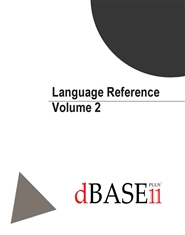 dBASE PLUS 11 Language Reference - Volume 2 of 2 cover image