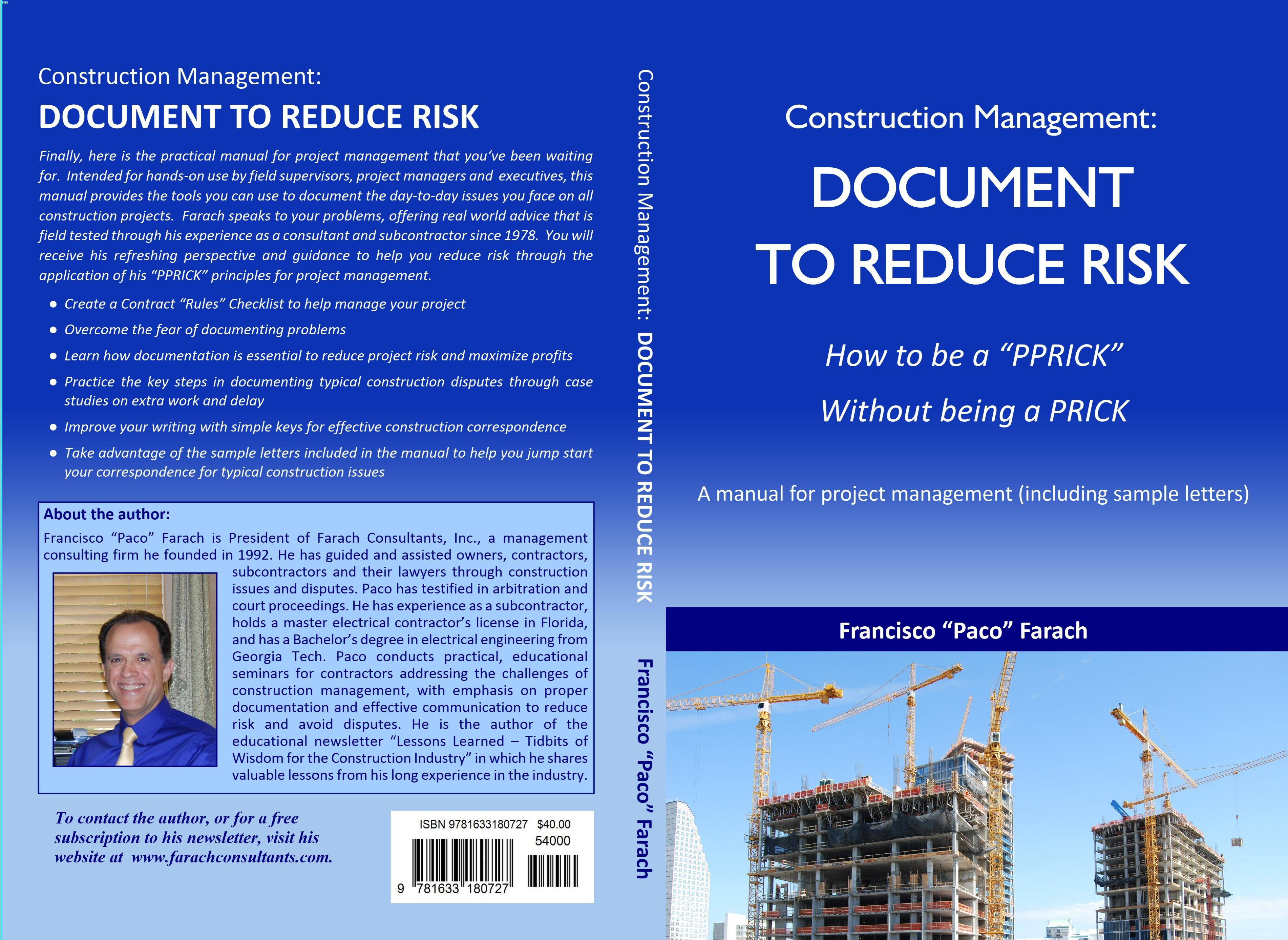 Construction Management: Document to Reduce Risk cover image