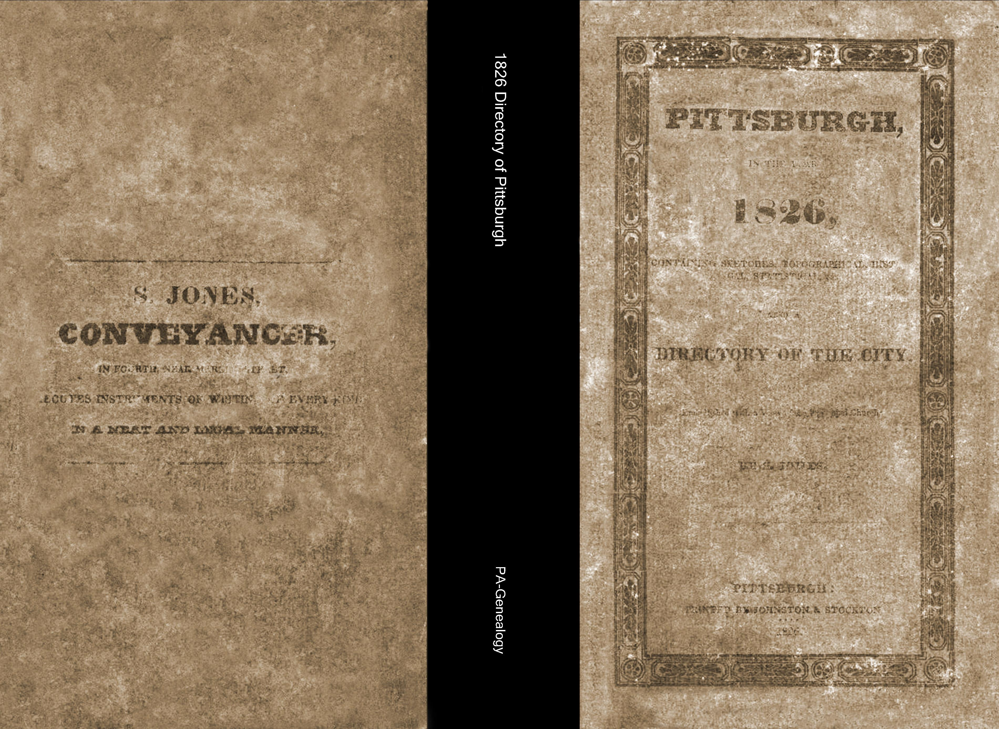 1826 Directory of Pittsburgh cover image