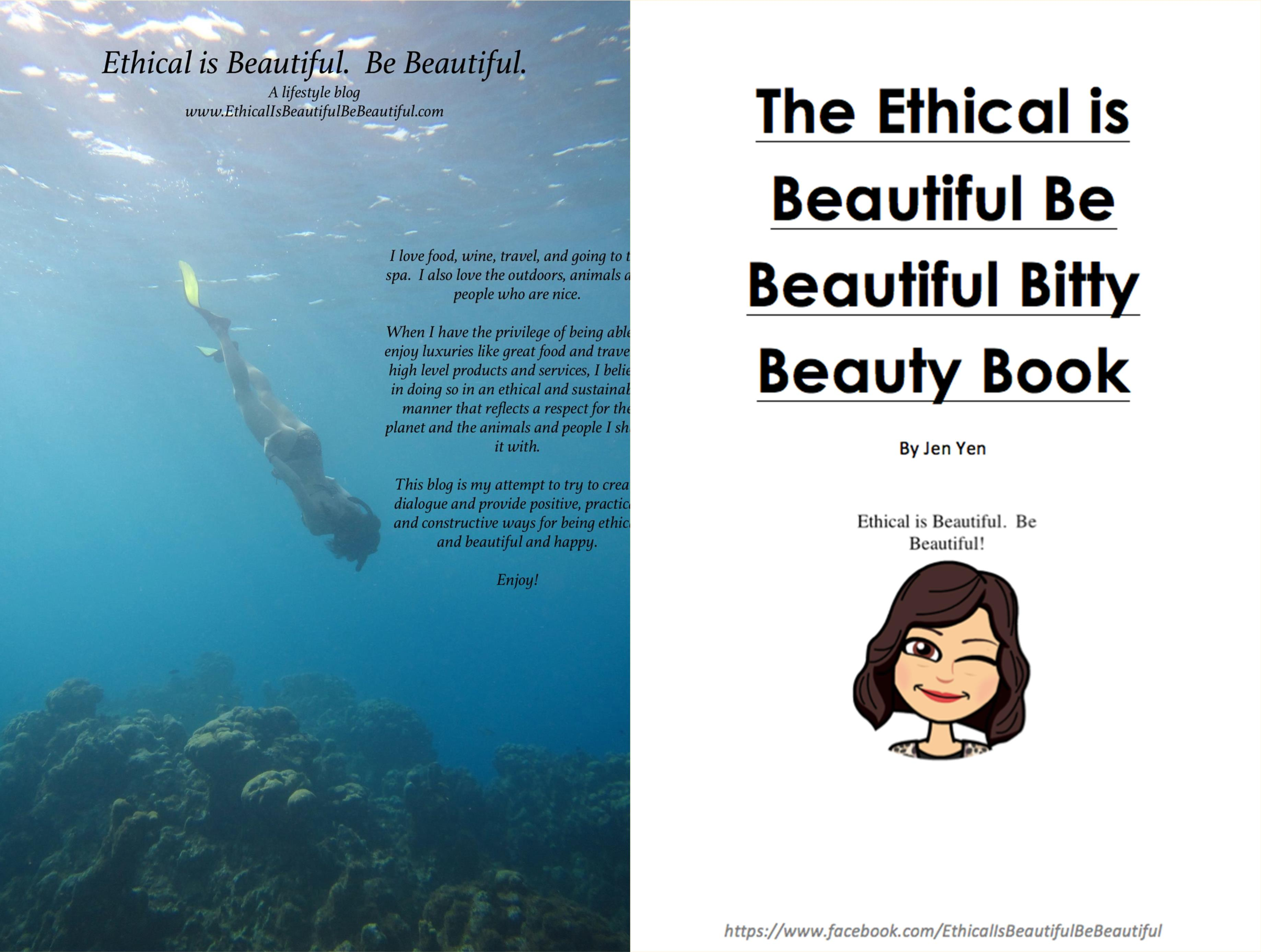 The Ethical is Beautiful Be Beautiful Bitty Beauty Book by Jen Yen cover image