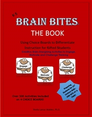 Brain Bites-Using Choice Boards to Differentiate Instruction for Gifted Students cover image