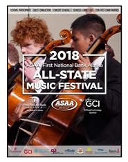 2018 ASAA/First National Bank Alaska All-State Music Festival Program cover image