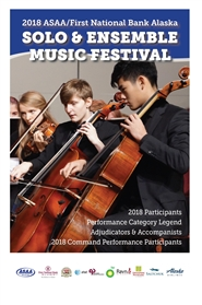 2018 ASAA/First National Bank Alaska Solo & Ensemble Music Festival Program cover image