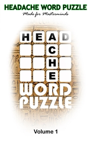 HEADACHE WORD PUZZLE Volume 1 cover image
