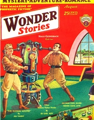 Wonder Stories 1930 August cover image
