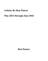Articles By Ron Panzer May 2012 through June 2016 cover image