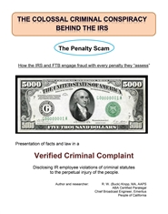 Collossal Criminal Conspiracy Behind the IRS - The Penalty Scam cover image