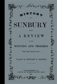Historical Sketch And Business Review of Sunbury in 1872-3 cover image