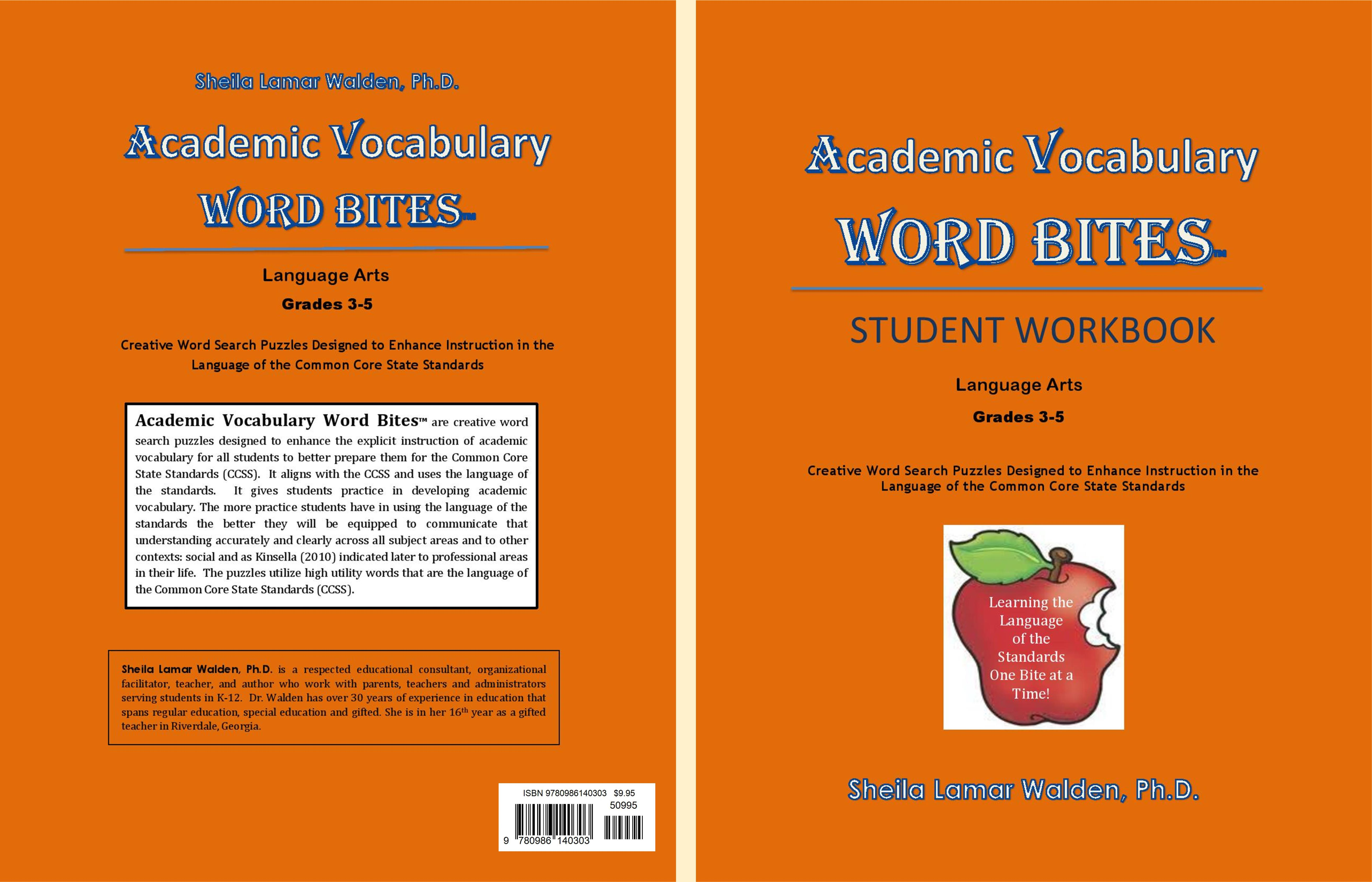 Academic Vocabulary Word Bites Student Workbook cover image