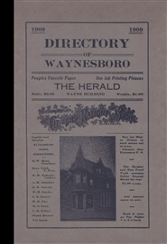1909 Directory of Waynesboro and Vicinity cover image