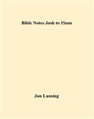 Bible Notes Josh to 1Sam cover image