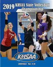 2019 KHSAA Volleyball State Championship Program (B&W) cover image
