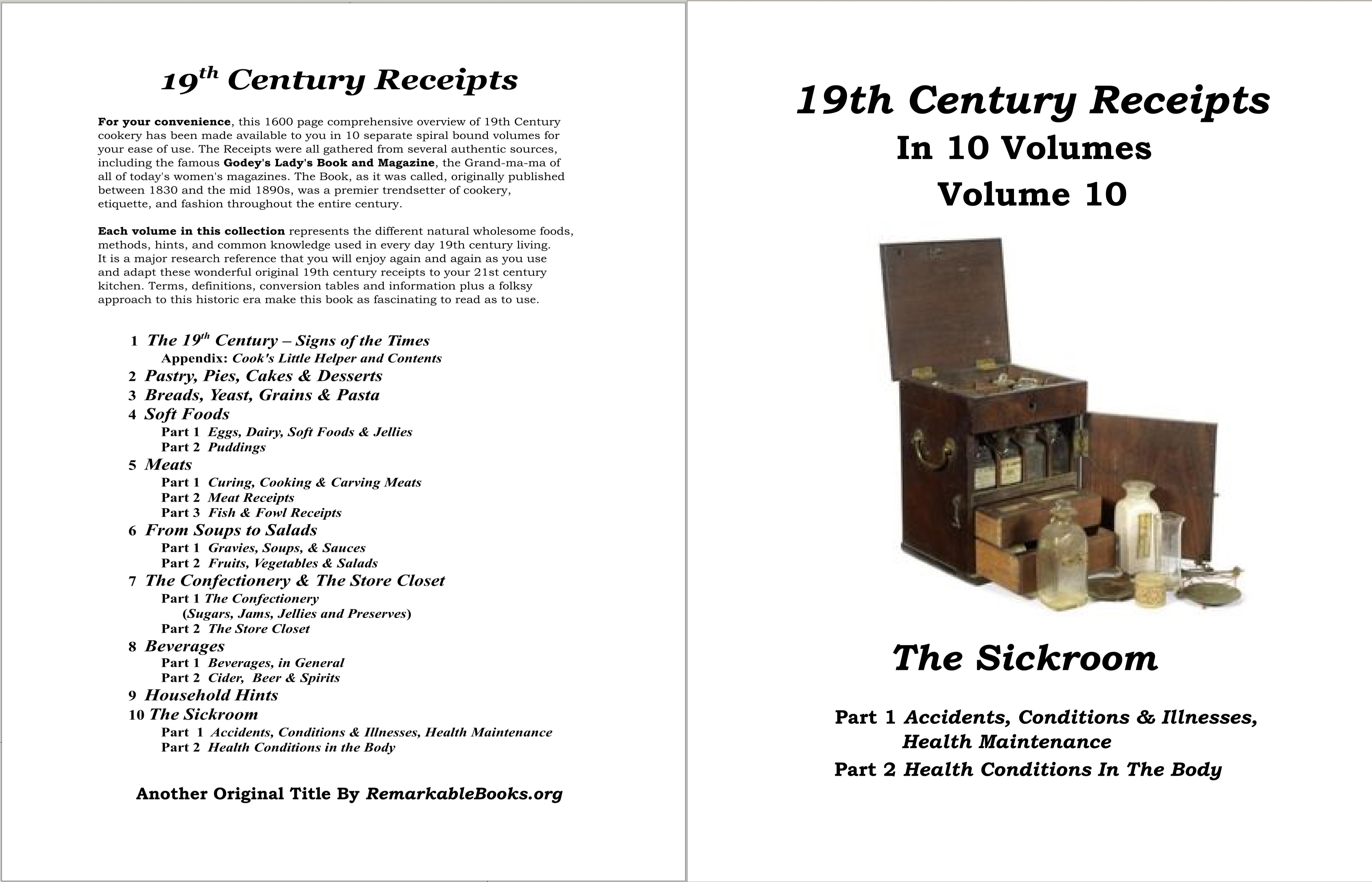 19th Century Receipts Volume 10 cover image