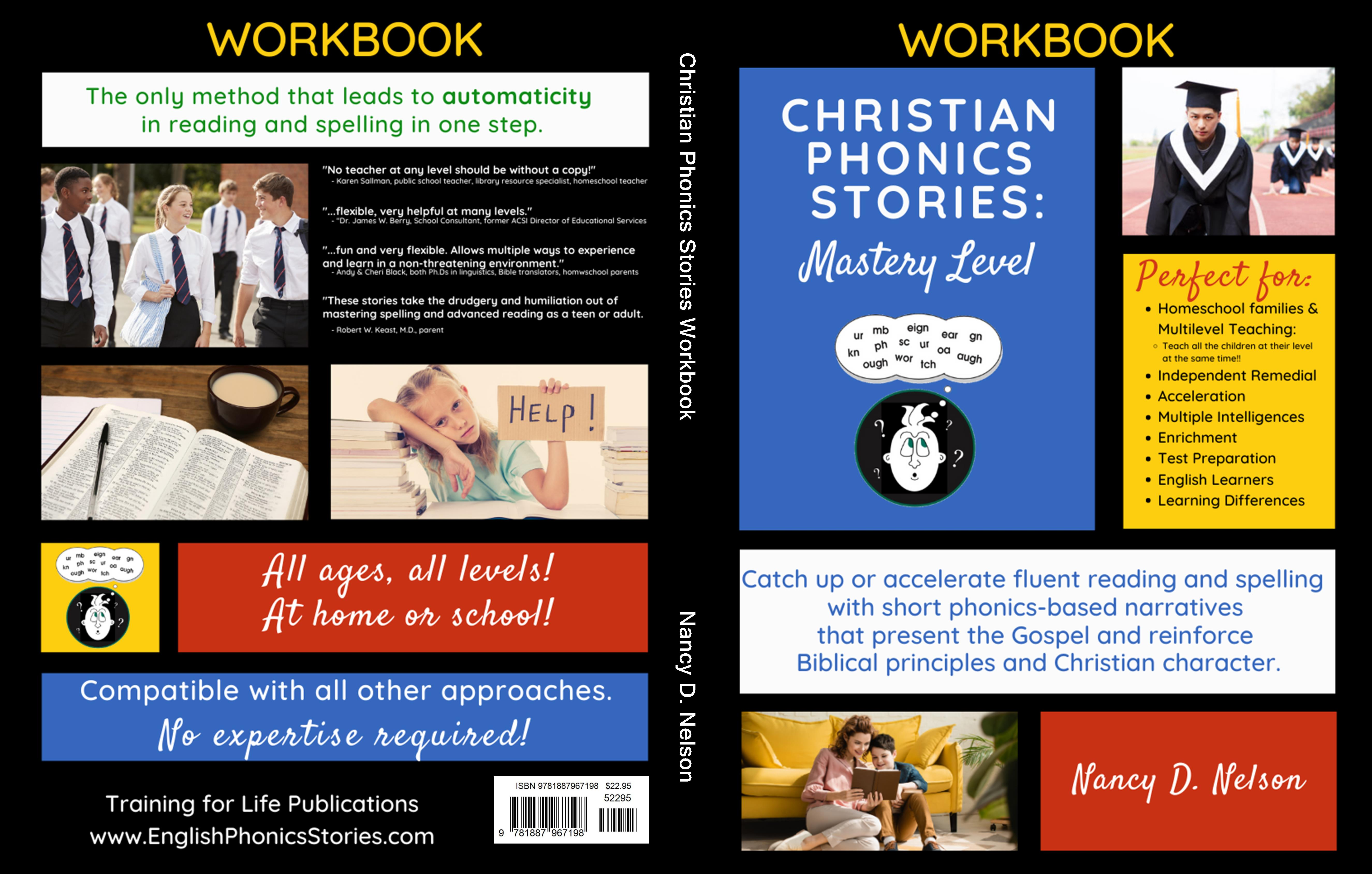 Christian Phonics Stories Workbook cover image