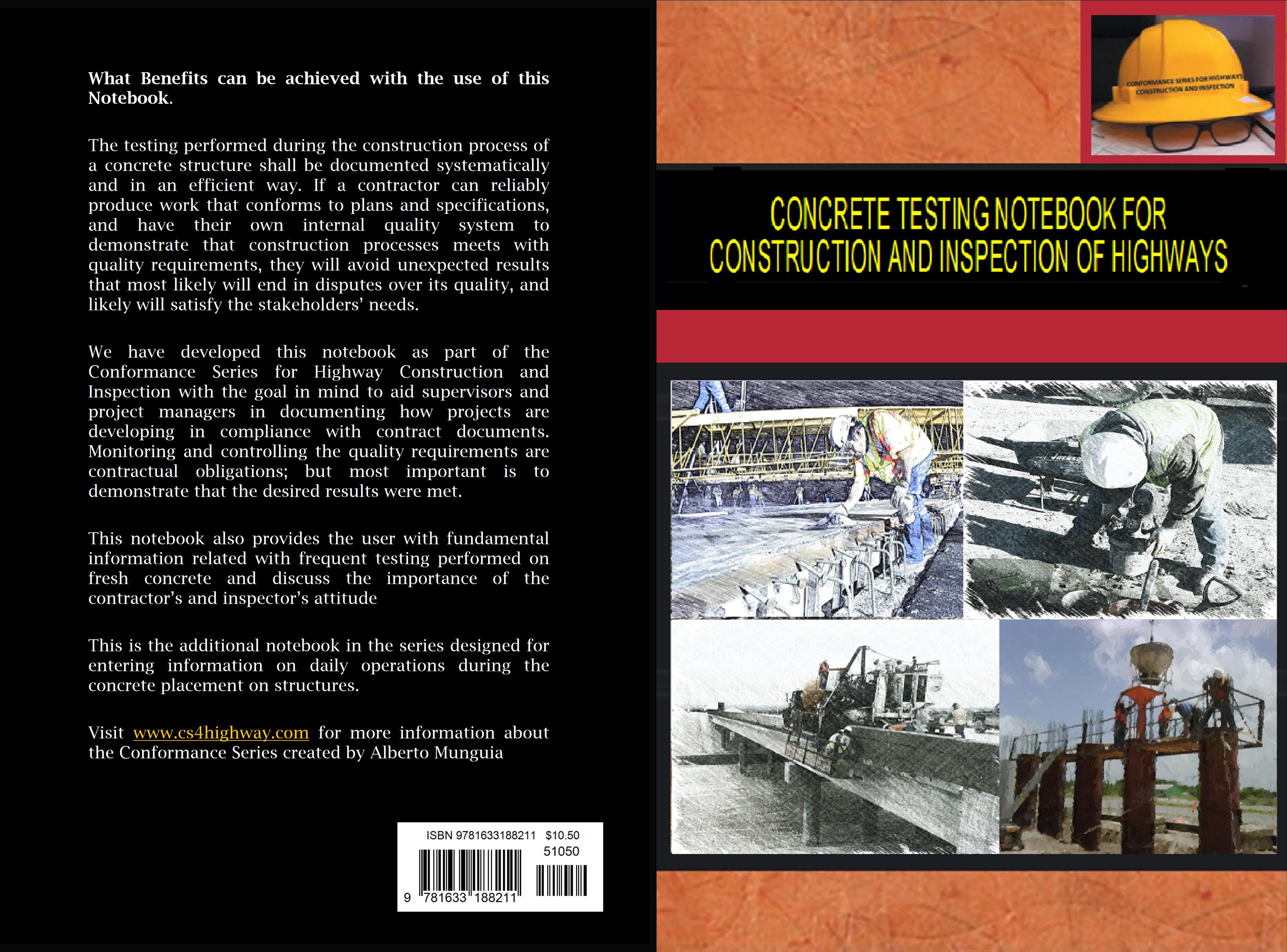 Concrete Testing Notebook for Construction and Inspection of Highways cover image