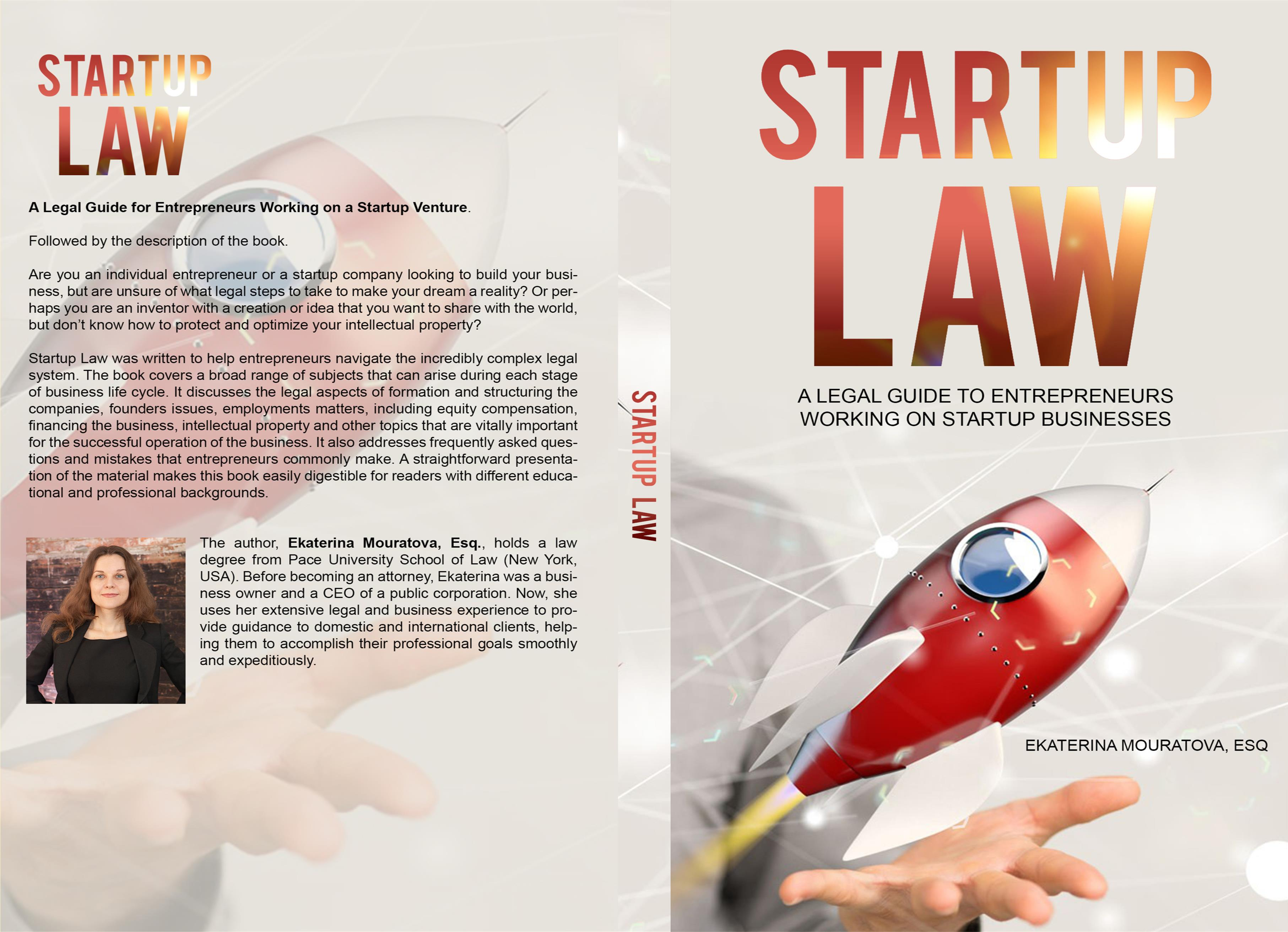 STARTUP LAW. A Legal Guide for Entrepreneurs Working on a Startup Venture. cover image