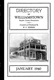 Directory of Williamstown - January 1940 cover image