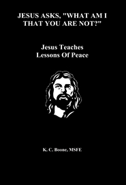 "JESUS ASKS, ""WHAT AM I THAT YOU ARE NOT?"" Jesus Teaches Lessons Of Peace cover image"