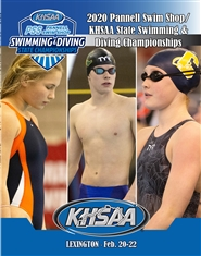 2020 Pannell Swim Shop/KHSAA Swimming & Diving Championship Program (B&W) cover image