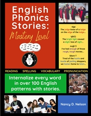 English Phonics Stories: MASTERY LEVEL- Color EXCERPTS, spiral cover image