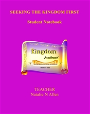 SEEKING THE KINGDOM FIRST - Teaching Manual (Level 1) cover image