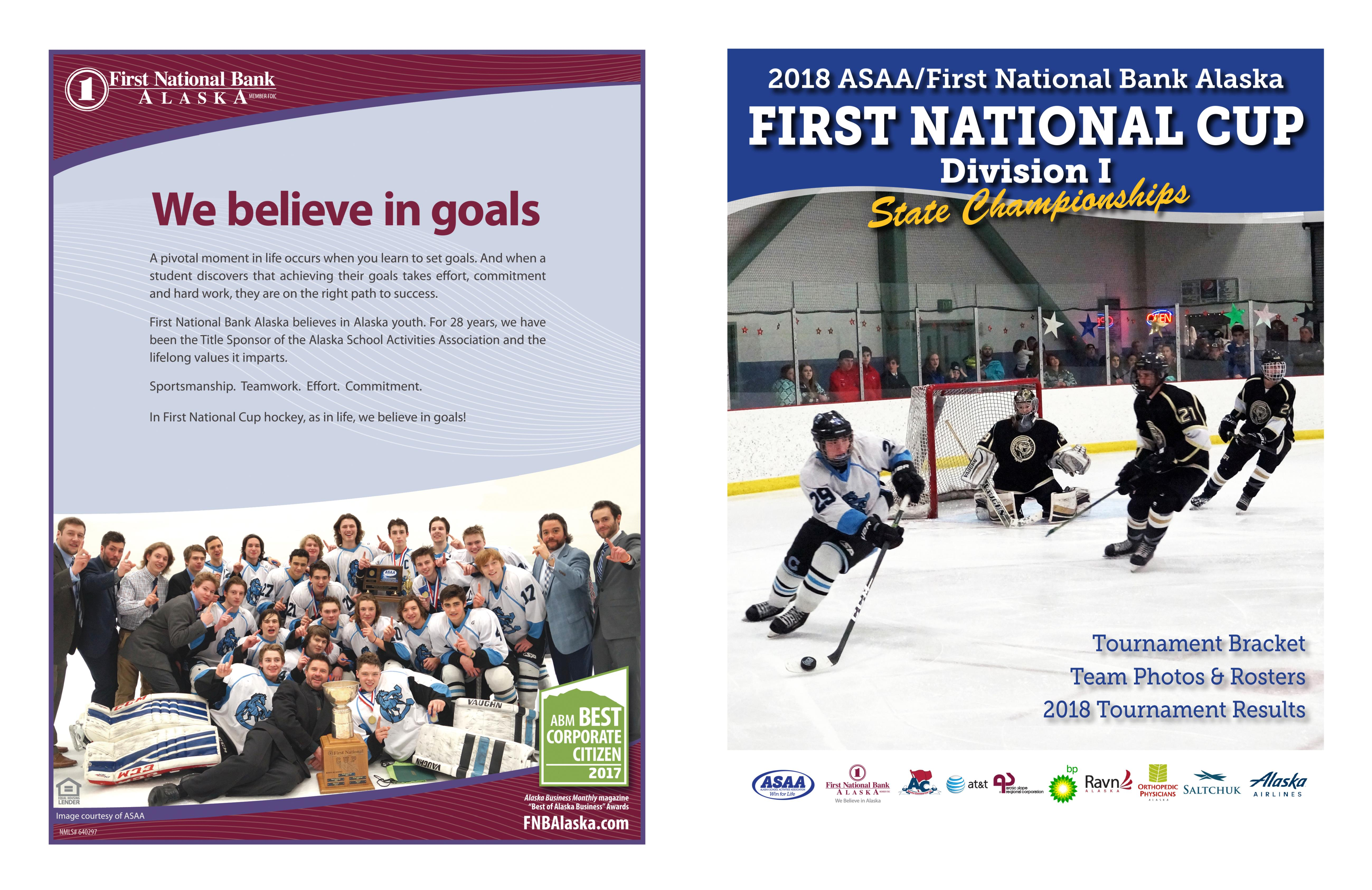 2018 ASAA First National Cup D1 Hockey State Championship Program cover image