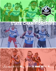 2021 ASAA/First National Bank Alaska Nordic Ski State Championship Program cover image