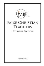 False Christian Teachers - Student Edition cover image