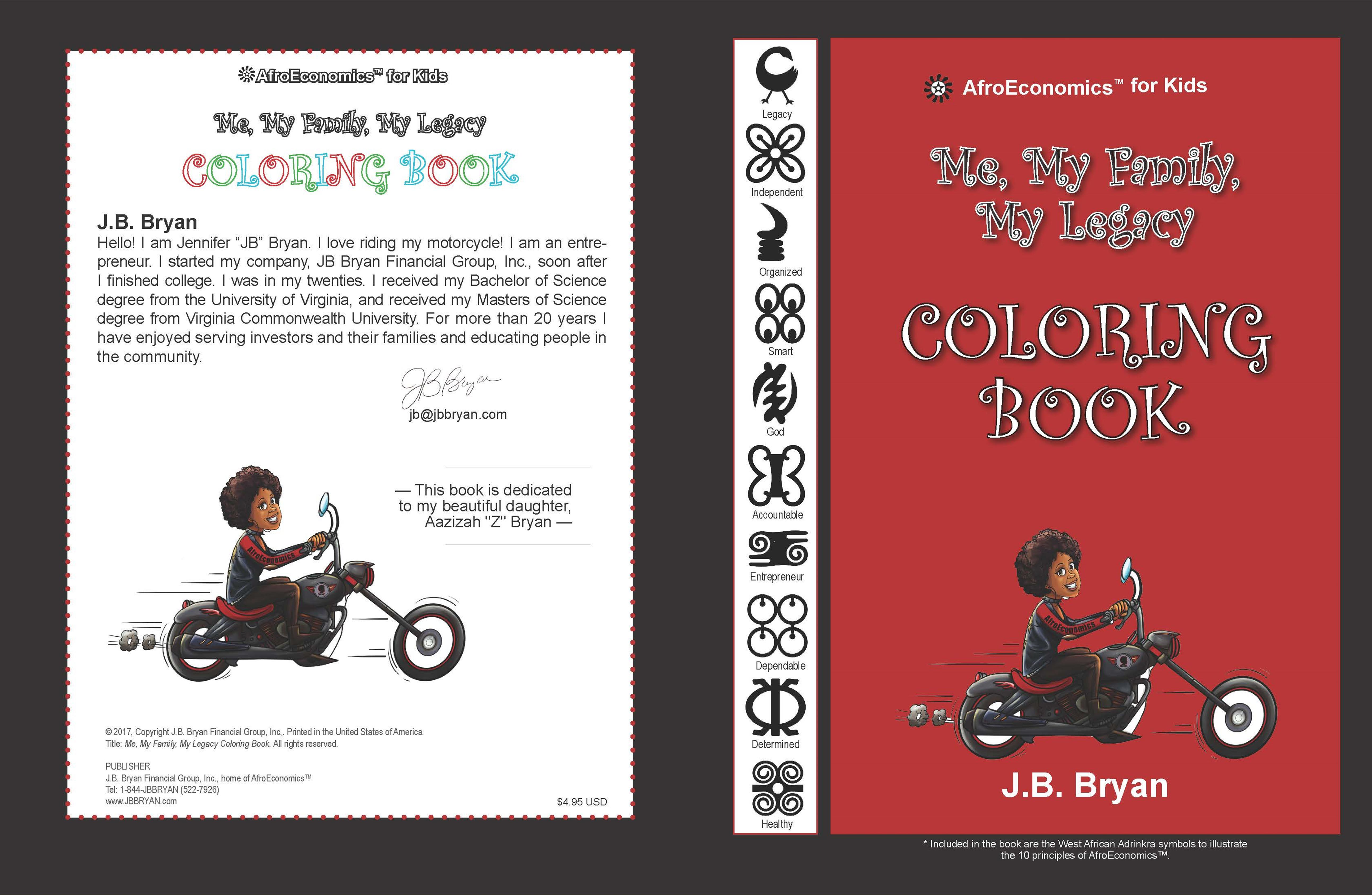 My, My Family, My Legacy Coloring Book by JB Bryan : $5.95 ...
