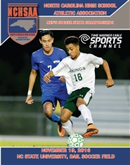 2016 NCHSAA Men's Soccer Championship Program & Yearbook cover image
