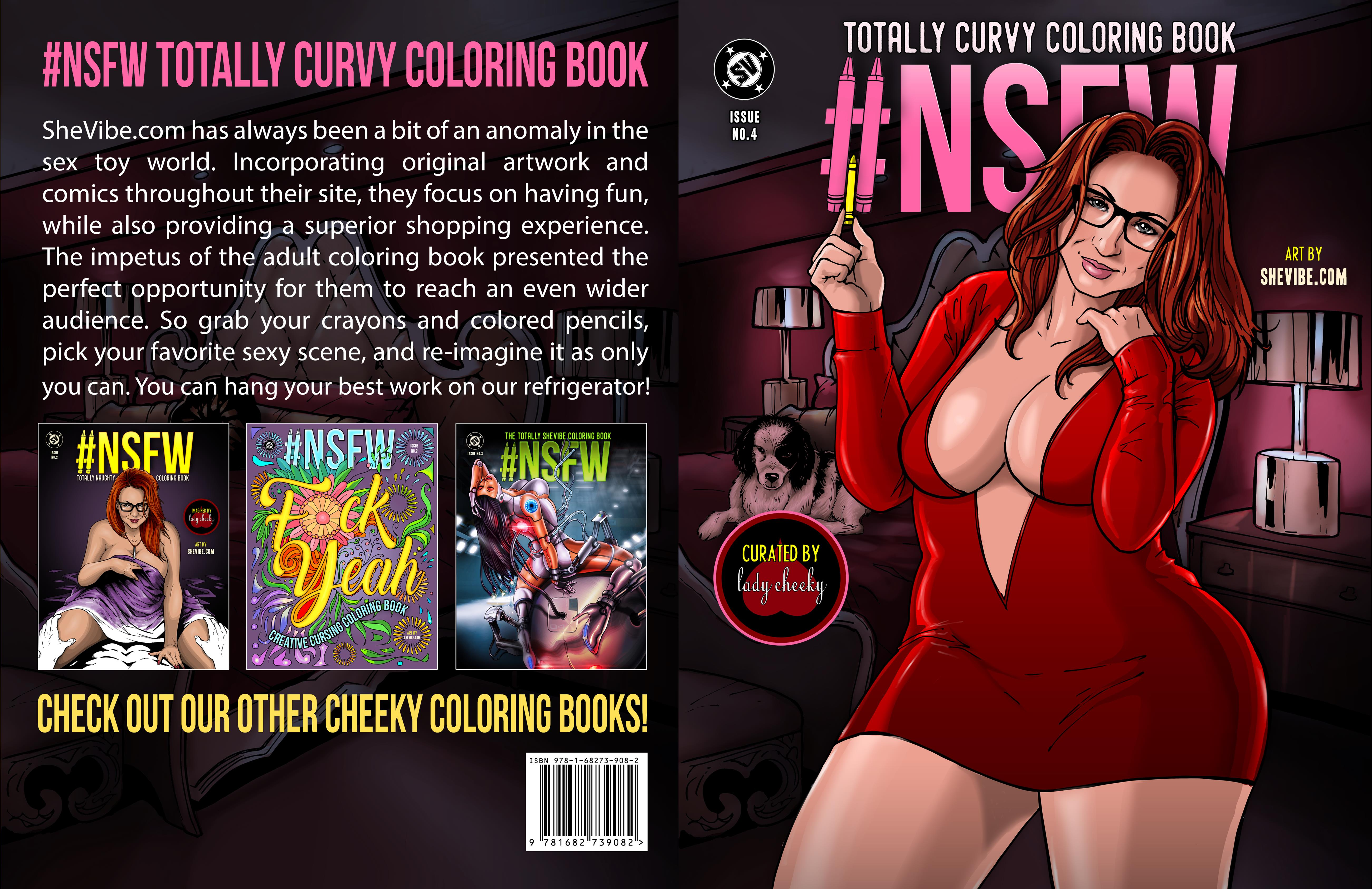 #NSFW Totally Curvy Coloring Book cover image