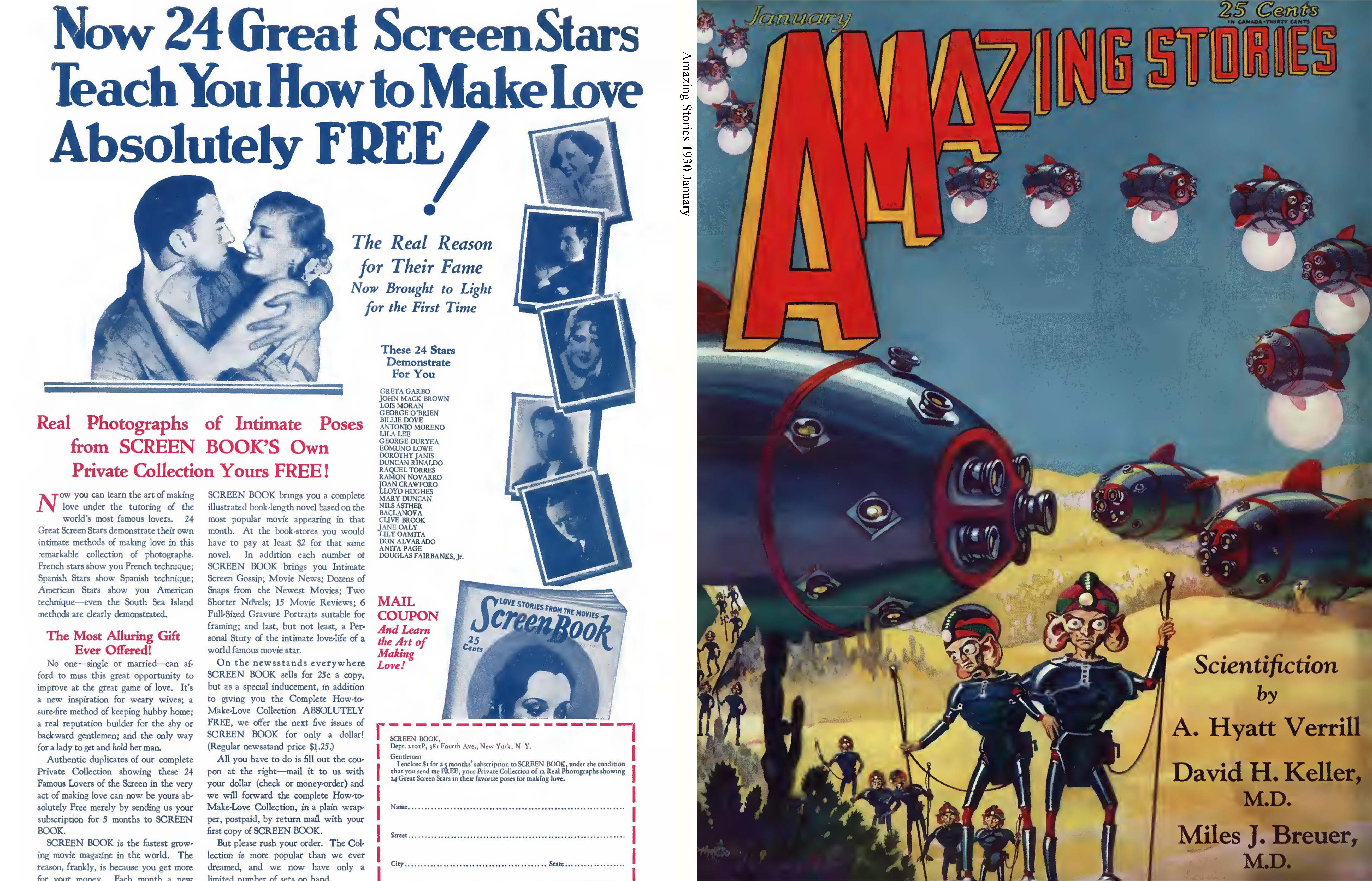 Amazing Stories 1930 January cover image