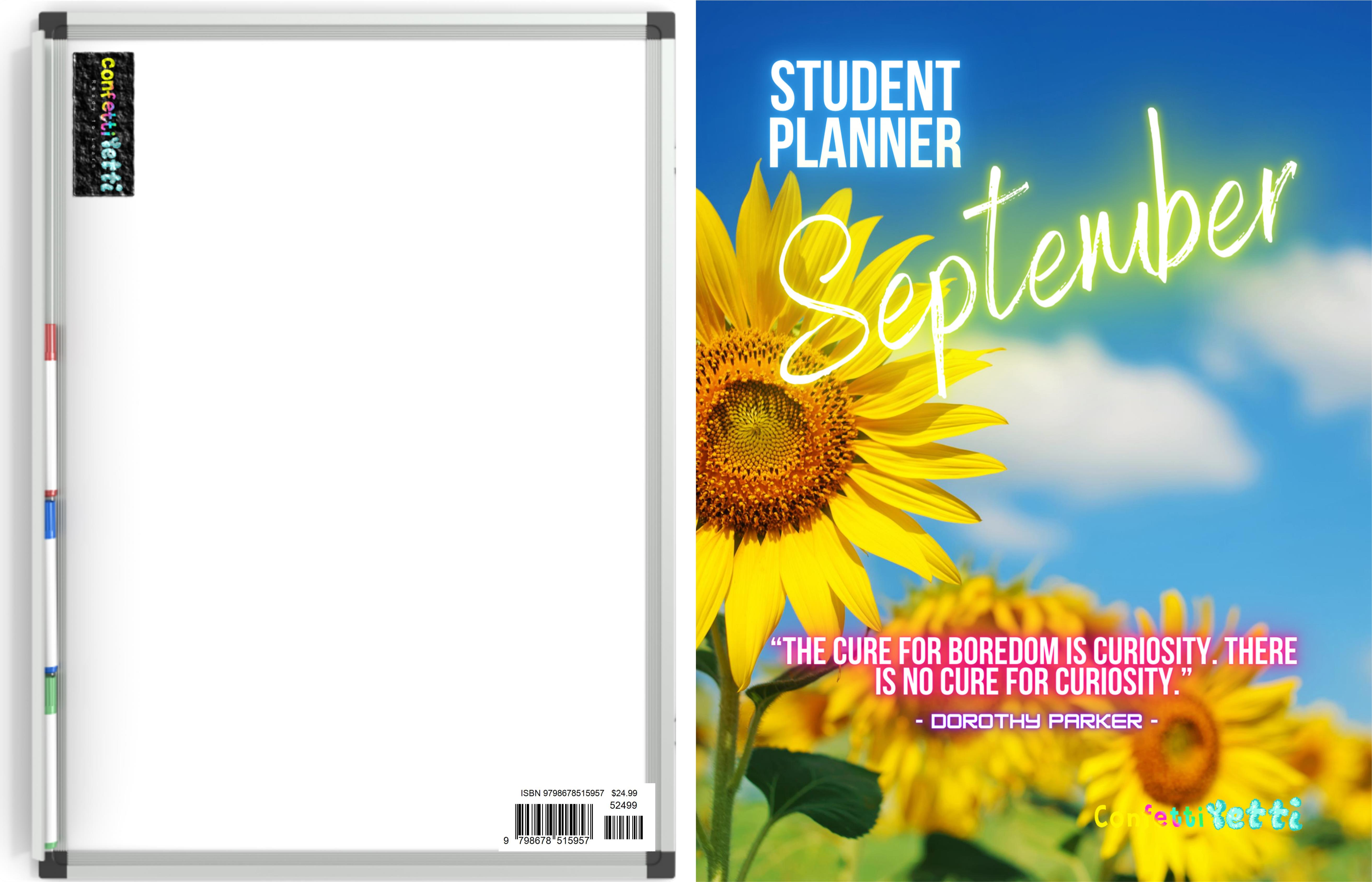 September 2020 Student HomeSchool Planner cover image