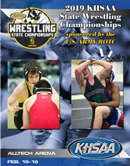 2019 KHSAA Wrestling State Championship Program (B&W) cover image