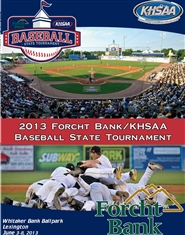 2013 Forcht Bank/KHSAA State Baseball Program (black and white) cover image