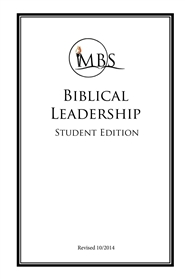 Biblical Leadership - Student Edition cover image