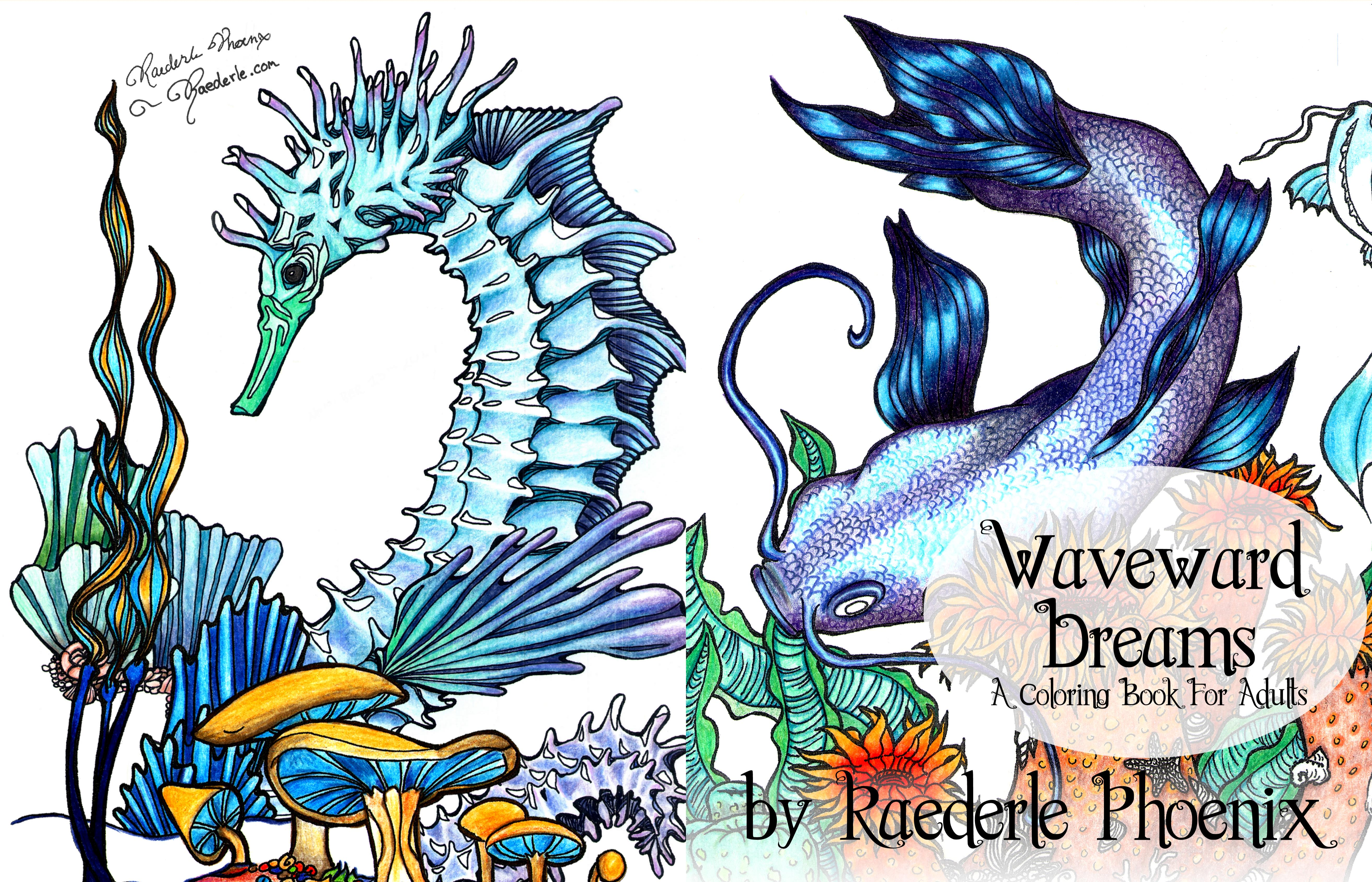 Waveward Dreams Coloring Book for Adults cover image