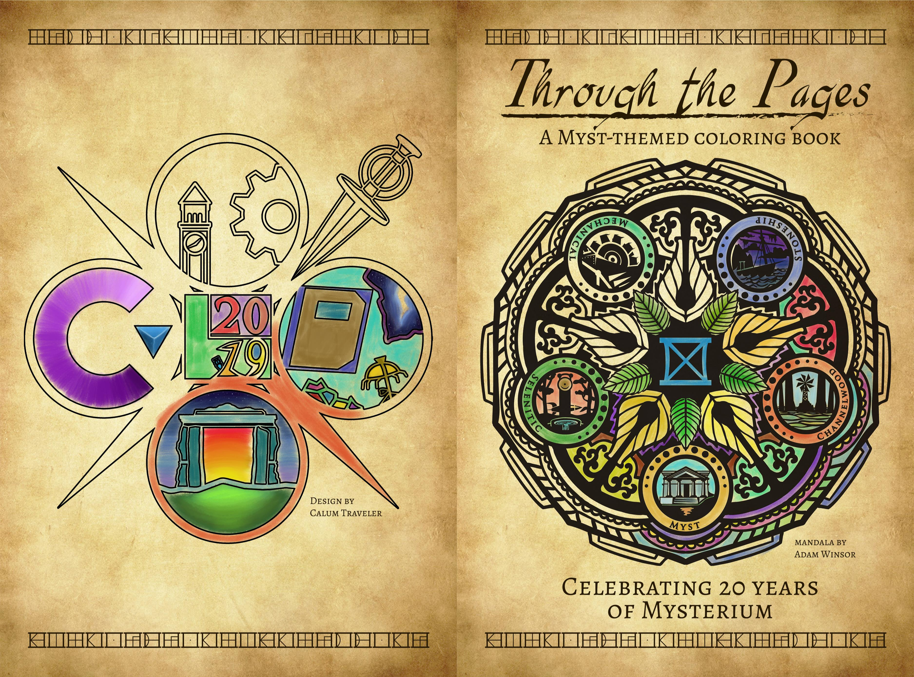 Through the Pages - A Myst Themed Coloring Book cover image
