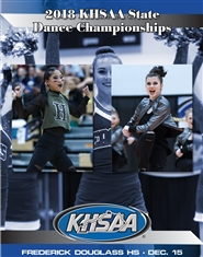 2018 KHSAA Dance State Championship Program (B&W) cover image