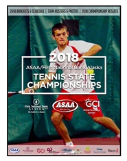 2018 ASAA/First National Bank Alaska Tennis State Championships Program cover image