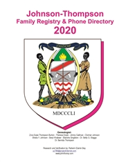 2020 Johnson-Thompson Family Registry & Phone Directory cover image