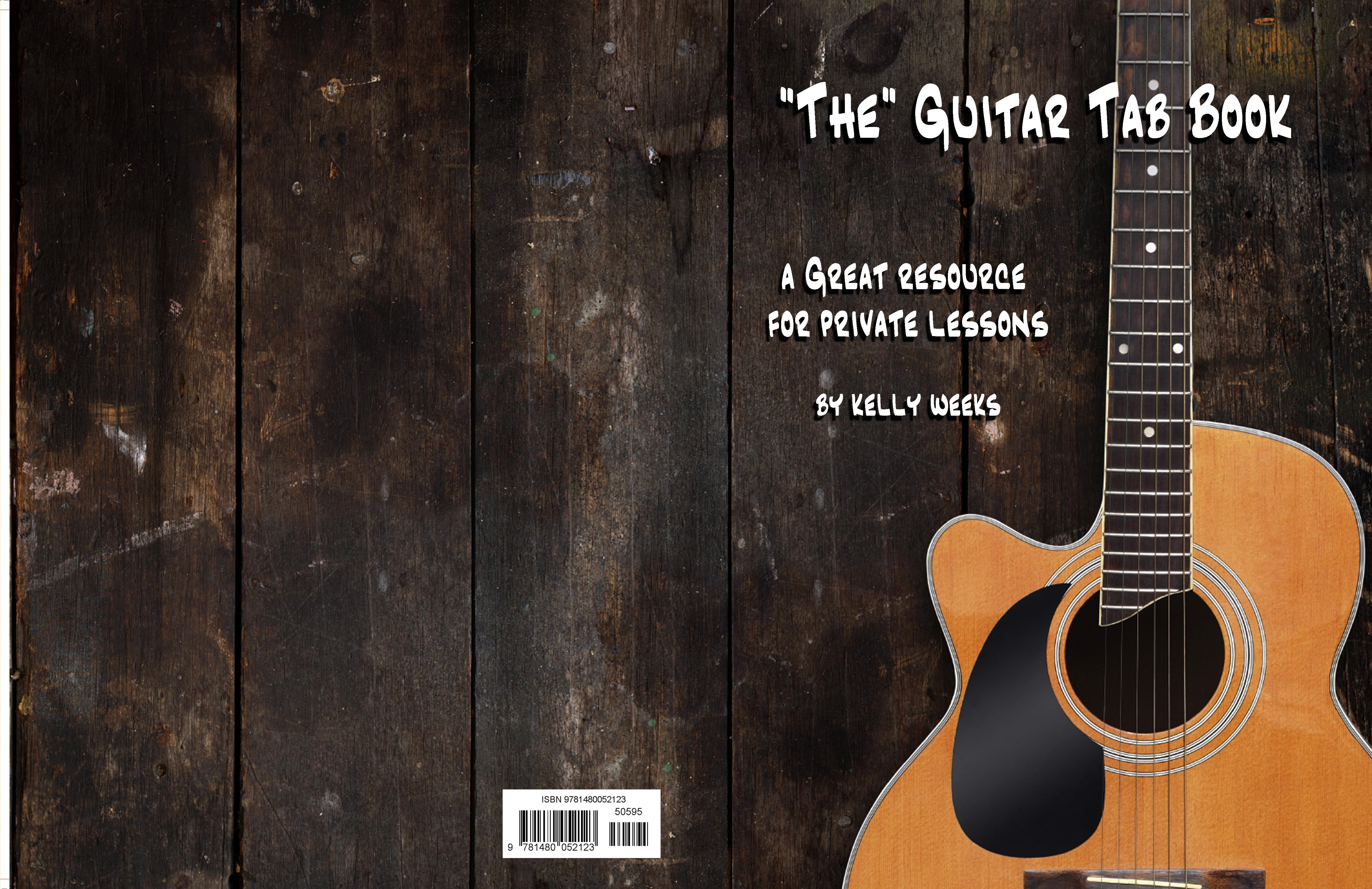 Food Book Cover Guitar : The guitar tab book by kelly weeks